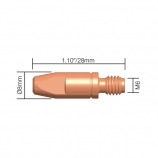 Contact tip M6*28 for MIG 24 / 25 / 36 torch