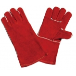 BT-5033 Series, Cow Split Leather Welding Gloves, Red, Cotton Lining