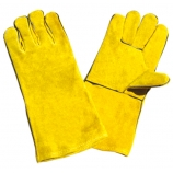 BT-5041 Series, Cow Split Leather Welding Gloves, Golden, Cotton Lining