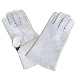 BT-5036, Cow Split Leather Welding Gloves, Grey, Cotton Ling